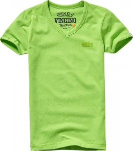 Vingino Basic T-Shirt V-Neck HARDJONO bright green