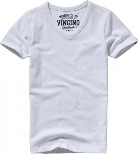 Vingino Basic T-Shirt V-Neck HARDJONO real white