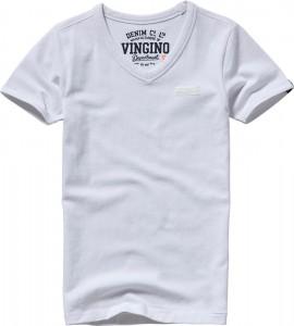 Vingino Basic T-Shirt V-Neck HARDJONO real white