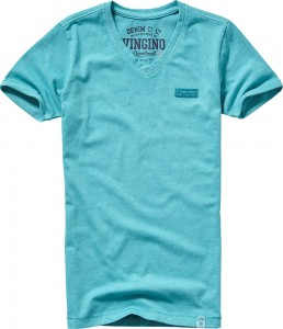 Vingino Basic T-Shirt V-Neck HAYCO faded petrol