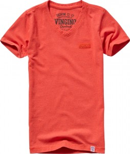 Vingino Basic T-Shirt V-Neck HAYCO orange red