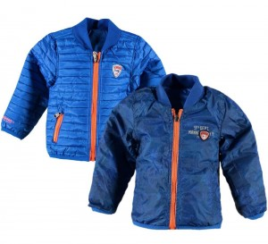 Vingino Newborn Mini Boys Wende-Jacke TERRY paint blue