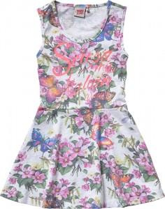 Vingino Jersey-Kleid PATIENCE Schmetterlinge weiß