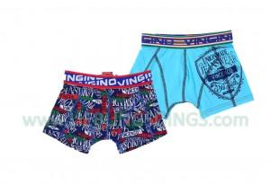 Vingino Boxer/Short 2er-Pack ITALIA blau/Muster