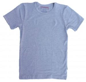 Vingino Basic-T-Shirt Boys Rundhals-Ausschnitt grau