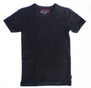 Vingino Basic-T-Shirt Boys Rundhals-Ausschnitt schwarz