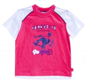 Whoopi T-Shirt rot-dunkelblau-elfenbein