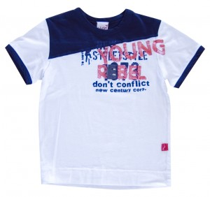 Whoopi T-Shirt elfenbein-dunkelblau