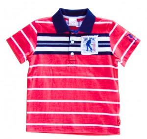 Whoopi Polo-Shirt rot-marine-ecru