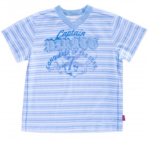 Whoopi T-Shirt Ringel aqua blue-weiß