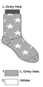 Bonnie Doon Socken A STAR IS BORN light grey heather