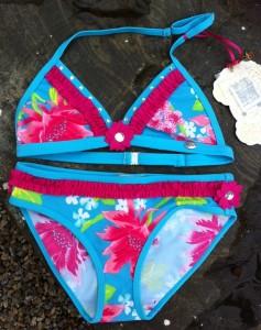 Pezzo D´oro Bikini Blumen türkis multicolor