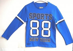 "Blue Effect Jungen Langarm-Shirt/Longsleeve ""Sports 88 New York"" königsblau"