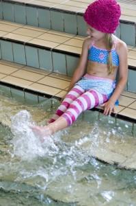 Bonnie Doon Capri-Legging Block-Ringel pink-weiß