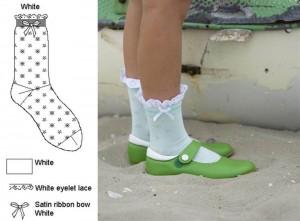 Bonnie Doon Socken BRODERIE weiss