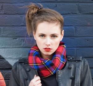 Bonnie Doon Damen Loop/Schal PLAID CHECKS rot-schwarz-gelb-blau