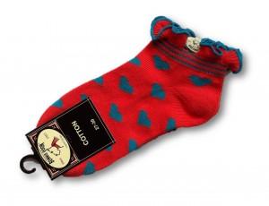 Bonnie Doon Kurz-Socken CANDY HEART dahlia