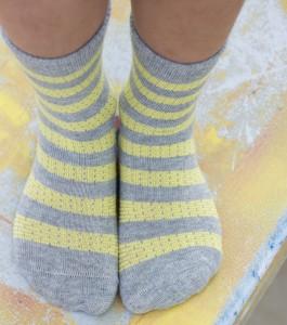 Bonnie Doon Socken BASKET WEAVE STRIPE citrus