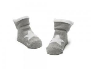 Bonnie Doon New Born/Baby Socken STAR light grey heather