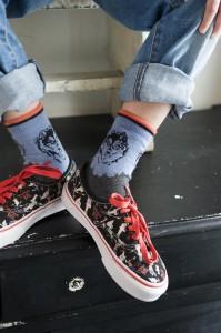 Bonnie Doon Socken CRY WOLF blau-grau