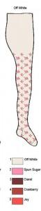 Bonnie Doon Baby Strumpfhose NIGHT FLOWERS offwhite