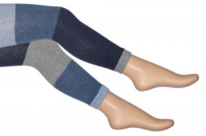 Bonnie Doon Legging COLOUR BLOCK STRIPES light denim heather