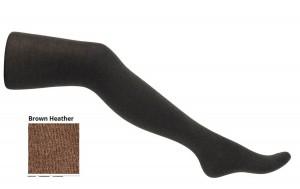 Bonnie Doon Damen Basic Strumpfhose COTTON/CASHMERE brown heather