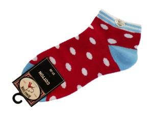 Bonnie Doon Juicy Dots kurz-Socken rot