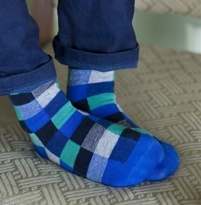 Bonnie Doon Funky Checks Socken royal