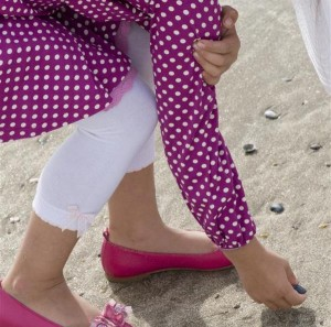 Bonnie Doon Baby Legging Speckled Bow rosa