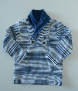 Ducky Beau Langarm-Shirt Streifen navy-weiss