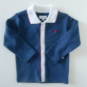 Ducky Beau Polo-Langarm-Shirt navy