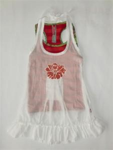 Carbone Sommer Kleid weiss