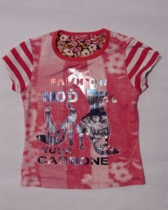 Carbone T-Shirt Shoe Print pink