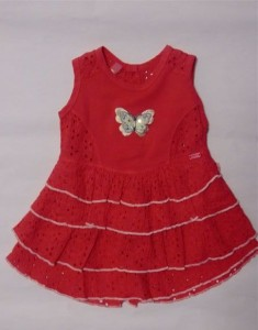 Carbone Mini Stufen - Kleid coralle