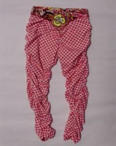 Carbone Raff-Legging pink-weiss