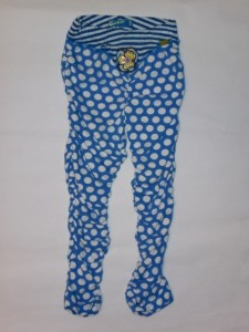 Carbone Raff-Legging Polka Dot blau-weiss