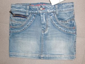 CKS Jeans Rock Mini Alfalfa light blue
