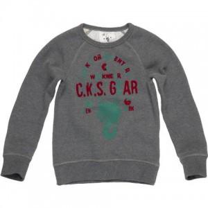 CKS Sweat-Shirt TORRES dark grey mele