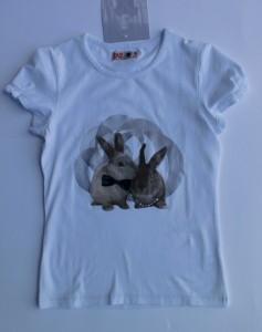 CKS T-Shirt Hasen-Print Goomba weiss