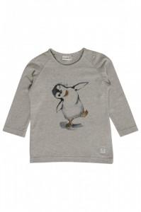 Hust & Claire Langarm-Shirt Pinguin grau melange