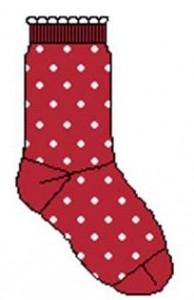 Bonnie Doon Baby Socken Dots weiss-rosa
