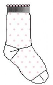 Bonnie Doon Socken Dots weiss-rosa