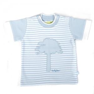 Ducky Beau T-Shirt Streifen hellblau-weiß