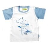 Ducky Beau T-Shirt hellblau-weiß
