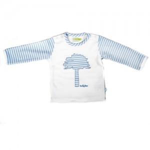Ducky Beau Shirt / Longsleeve hellblau-weiß