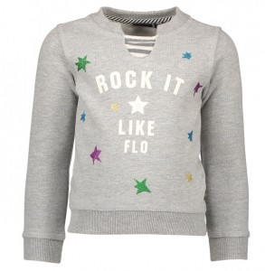 LIKE FLO Sweat-Shirt Stars grey mele