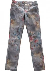 Blue Effect Mädchen Jeans floral grey NORMAL