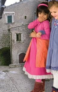 Keedo - Set Kleid / Tunika mit Legging pink/orange