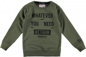 RETOUR Sweat-Shirt GUIDO army